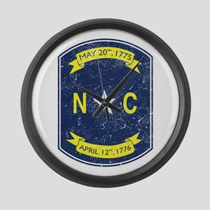 NC_shield Large Wall Clock