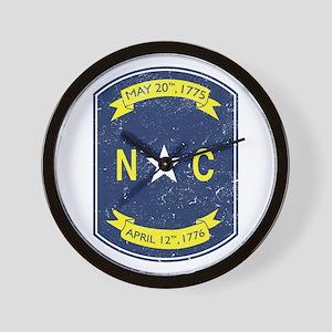 NC_shield Wall Clock