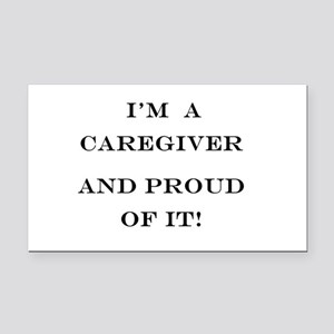 I'm a caregiver and proud of Rectangle Car Magnet