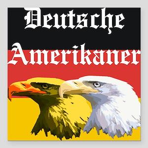 Deutsche Amerikaner Square Car Magnet