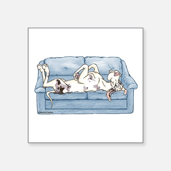 """Merlequin couch Square Sticker 3"""" x 3"""""""