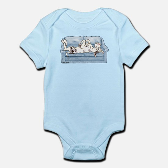Merlequin couch Infant Bodysuit