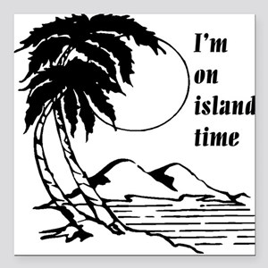 On Island Time Square Car Magnet