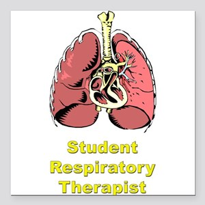 Student Lungs Square Car Magnet