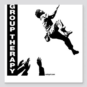 Group Therapy v2 Square Car Magnet