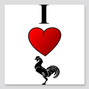 """I Heart Cock"" Square Car Magnet"