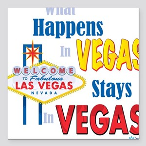 Vegas Square Car Magnet