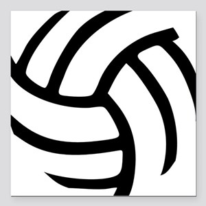 Volleyball Square Car Magnet