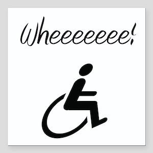 Wheelchair Square Car Magnet