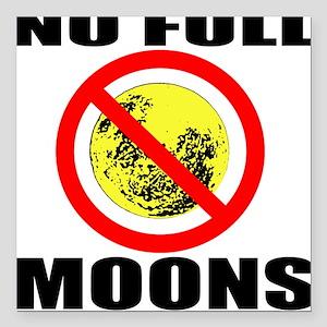 Full Moon Square Car Magnet