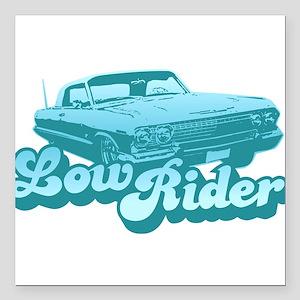 Low Rider Creeper Square Car Magnet