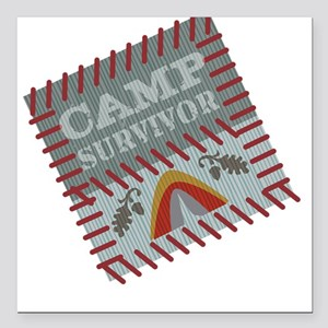 Camp Survivor Square Car Magnet