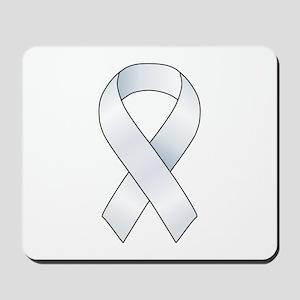 White Ribbon Mousepad