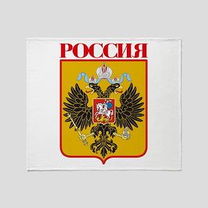 Russian Empire COA Throw Blanket