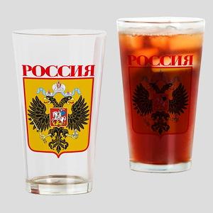 Russian Empire COA Drinking Glass