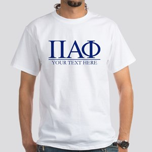 Pi Alpha Phi Letters Personalized White T-Shirt
