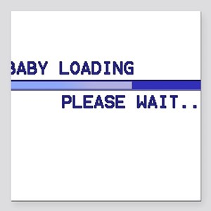Baby Loading Blue Square Car Magnet