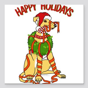Happy Holidays Square Car Magnet