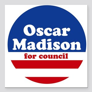 Madison for Council Square Car Magnet White