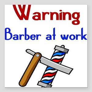 Barber Square Car Magnet