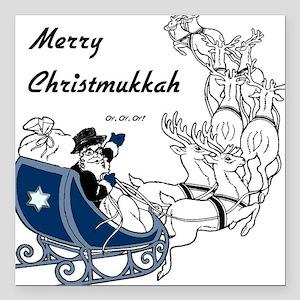 Merry Christmukkah Square Car Magnet