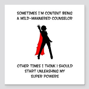 Counseling Superheroine Square Car Magnet