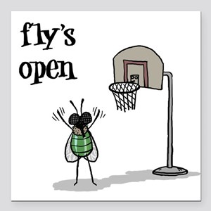 Fly's Open: Square Car Magnet