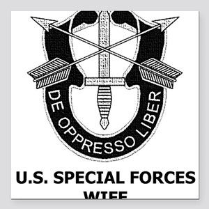Special Forces Wife Square Car Magnet