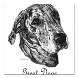 Great dane lover Square Car Magnets