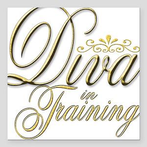 Diva in Training Creeper Square Car Magnet