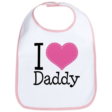 I Heart Daddy Bib