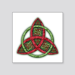 "Celtic Holiday Knot Square Sticker 3"" x 3"""