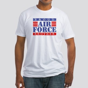 Proud Air Force Brother Fitted T-Shirt