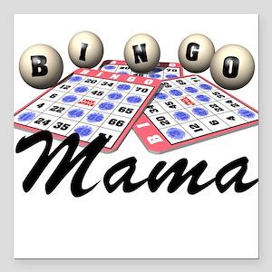 Bingo Mama Square Car Magnet