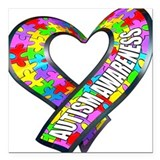 Autism awareness Square Car Magnets