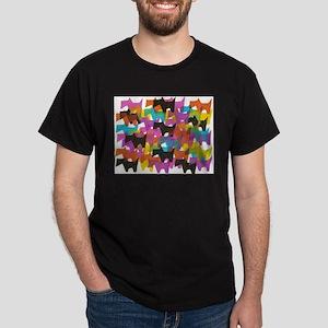 Too Many Scotties? Black T-Shirt