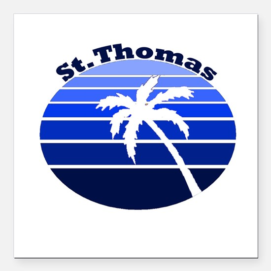 St. Thomas, USVI Square Car Magnet