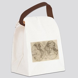 Old Fashioned World Map (1795) Canvas Lunch Bag