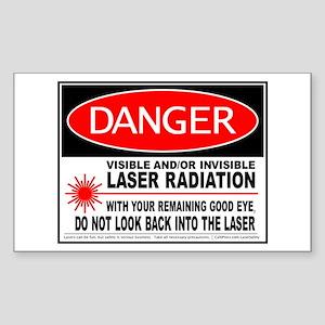 Laser Safety Sticker (Rectangle)