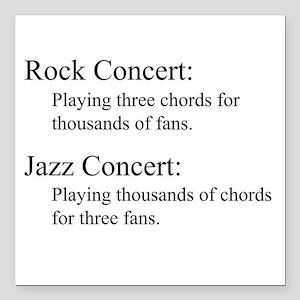 Jazz Concert Square Car Magnet