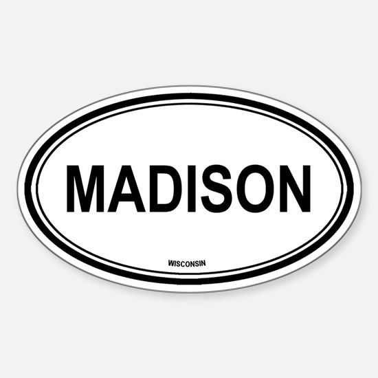 Madison (Wisconsin) Oval Decal