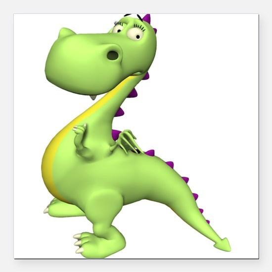 Puff The Magic Dragon - Green Creeper Square Car M