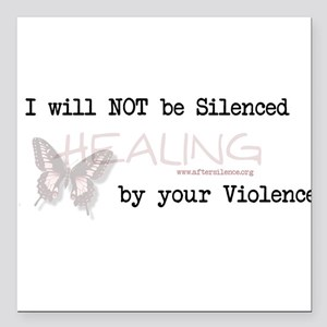 I Will Not Be Silenced Square Car Magnet