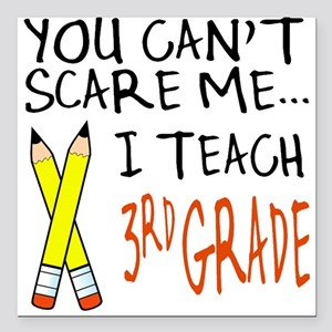 3rd Grade Teacher Square Car Magnet