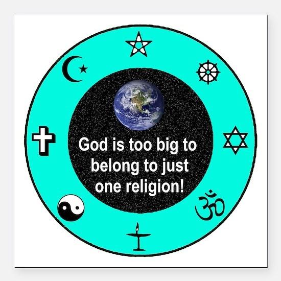 Big God Religion III Square Car Magnet