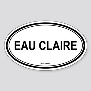 Eau Claire (Wisconsin) Oval Sticker