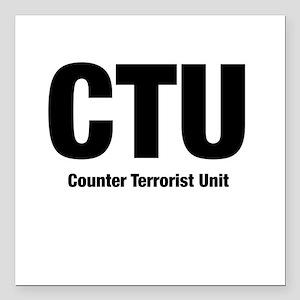 C.T.U. Square Car Magnet