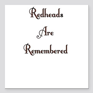 Remembered Square Car Magnet