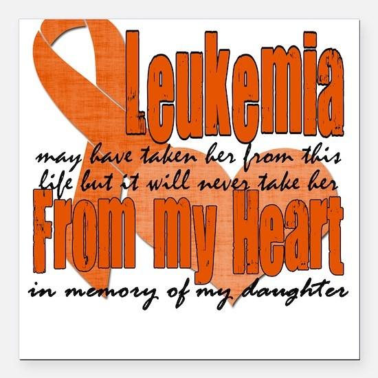 Daughter Leukemia Square Car Magnet