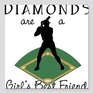 Diamonds - Girl's Best Friend Square Car Magnet